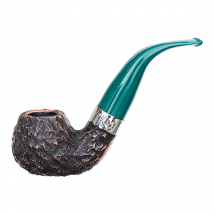 Peterson of Dublin St Patrick's Day 2021 XL Pipe, in Teal.